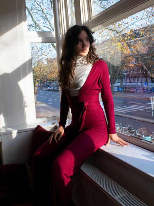 Violeta grosella jumpsuit