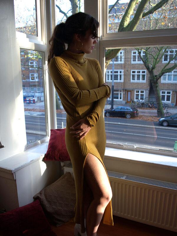 Violeta ocre dress